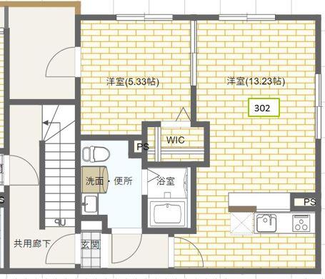 【定期借家・築浅賃貸マンション】アーバンステージ月島Ⅲ302号室